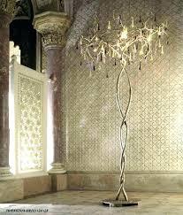 tripod chandelier floor lamp diy
