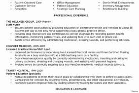 Sample Nurse Resume Lpn Resume Sample Luxury Nursing Resume Sample Nurse Examples 73