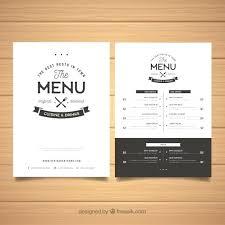 Food Menu Template Free Vector Format Download Menu Template