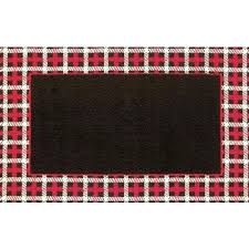 cable plaid border red hook tufted rug x and black buffalo rugs