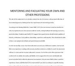 reflective essay mentorship reflection on a mentorship role in medicine uk essays