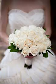 white rose bride bouquet by seasons