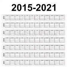 Vector Calendars 2015 2016 2017 2018 Stock Vector