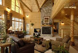 ... Cabin Living Room Living Room, Great Room Of Golden Eagle Log Homes  Country's Best Floor Plan Rustic Log ...