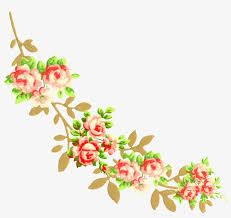 flower corner design png png free