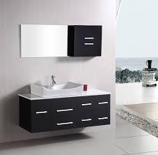 Bathroom Vanity Set Design Element Springfield Single 53 Inch Modern Wall Mount