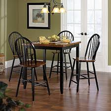 Sauder Kitchen Furniture Sauder Edge Water Estate Black Wood Windsor Dining Chair Set Of 2