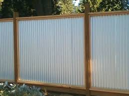 corrugated metal privacy fence.  Metal Corrugated Metal Fence Magnificent Ideas Cost  Pertaining To Prepare  Steel  In Corrugated Metal Privacy Fence