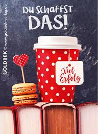 Postkarten Kaffee Schönes Motiv Um Viel Erfolg Zu Wünschen