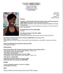How To Make A Dance Resume Sample Dance Competition Resume