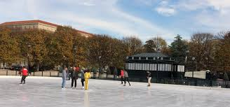 skaters enjoy an afternoon on the ice friday the ice rink at the national gallery of art sculpture garden has opened for the season