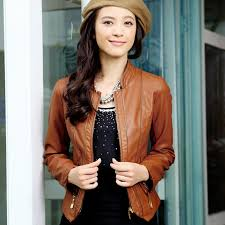 trends for brown leather jacket outfit women