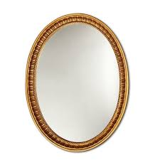 Chloe Antique Gold Oval Mirror Free Shipping Today Overstock