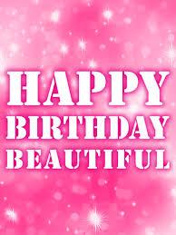 Pink Happy Birthday Beautiful Card Birthday Greeting