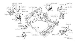 11270 9n00a genuine nissan 112709n00a insulator assy engine 2009 nissan maxima engine transmission mounting diagram a 001
