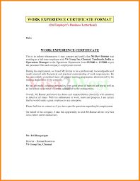 experience letter sample sample certificate of employment part time copy wonderful