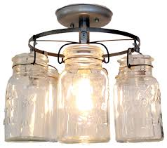 vintage mason jar ceiling light farmhouse flush mount ceiling lighting