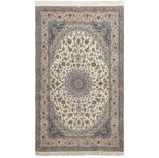 rug high pile area rugs new ivory wool and silk persian naein area rug 600