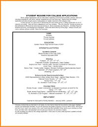 11 Sample Resume For College Admission Azzurra Castle Grenada