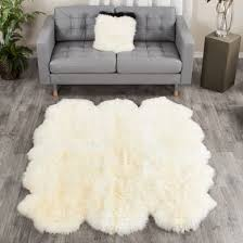 large ivory white sheepskin rug 6 pelt to 5 5x6 ft special