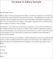 Increment Letter Sample