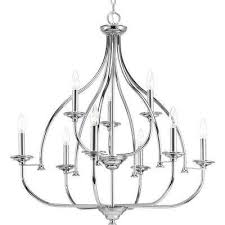 tinsley collection 9 light polished chrome chandelier