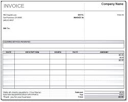 service rendered invoice service rendered invoice cleaning service invoice sample service