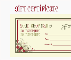 free printable mage gift certificate templates beautiful tattoo gift certificate template free image collections templates of