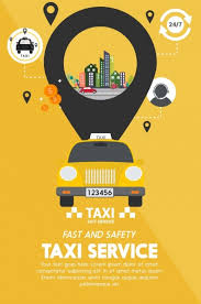 Service Advertisement Taxi Service Advertisement Yellow Design Ui Oval Decoration Free