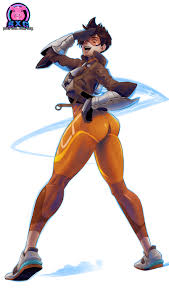 Is tracer thiccer in overwatch 2? Tracer Overwatch 2 Design By Sexgazer On Deviantart
