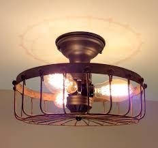 Rustic Flush Mount Ceiling Lights Rustic Flush Mount Cage Ceiling Light The Lamp Goods