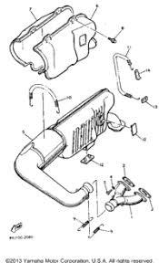 1992 yamaha exciter ii ex570s oem parts babbitts yamaha partshouse exhaust