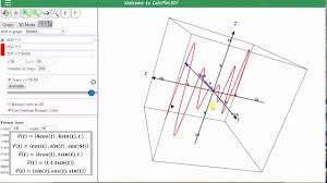 graph space curves given as a vector function using 3d calc plotter