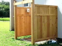 diy outdoor shower enclosure simple stall ideas homemade