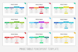 Pricing Table Templates Price Table Powerpoint Template