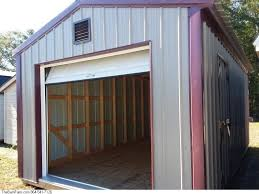 1220 Storage Shed With Garage Door