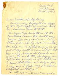 Florida Memory • Letter from Patricia and Priscilla Stephens to Marion  Hamilton and Lottie Houston, March 20, 1960