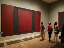 rothko painted these to hang in a new york restaurant but realising that they were too dark in mood and that they would unsettle and subdue the diners
