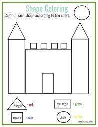 Free printable shape coloring printable   Math   Pinterest ...