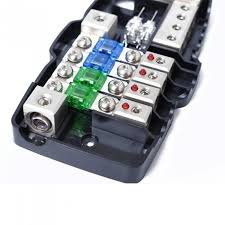 wiring multi functional led car audio stereo mini anl fuse box multi functional led car audio stereo mini anl fuse box 4 way fuse block