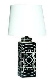 geometric table lamp black antique gold open