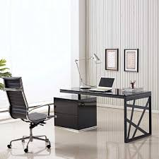 chrome office desk. Amusing Contemporary Unique Computer Desk Also Chrome Table Lamp And Black Swivel Office Chair As Well