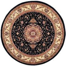 black ivory 4 ft x round area rug circular rugs small n