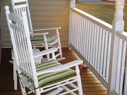 image of white rocking chair outdoor cushion