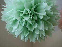 Pom Pom Decorations Celery 1 Tissue Paper Pom Pom Diy Wedding Decorations