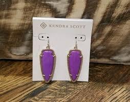 Kendra Scott Htf Rare Neon Purple Sky Arrow Earrings