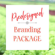 this premade branding package is professional graphic design for the chef that wants an organic brand