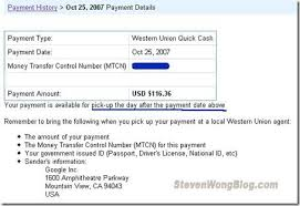 gt; Home Payments Summary Western Union -