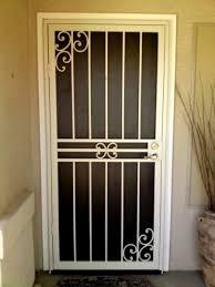 security screen door. Security Screen Door, Storm Window Guards, Steel Bars, Designer Door O