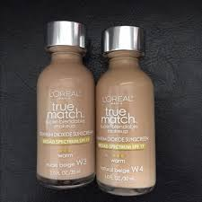 loreal true match foundation in w3 w4 swatched